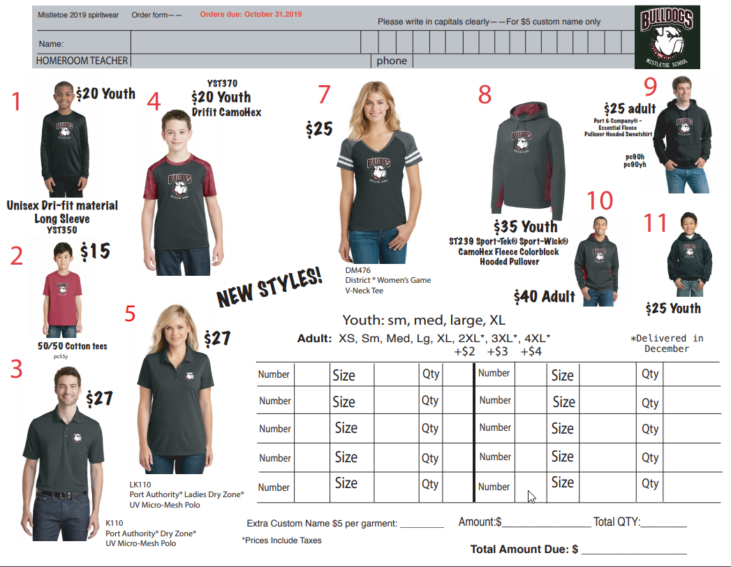 Spirit Wear Now on Sale!